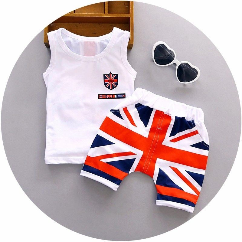 Nice Baby Boy Clothes 2017 Summer High Quality Cotton Baby Clothing Set 2pc For 1 2 3 Years Old Boys Vest Boys Summer Outfits Baby Boy Summer Baby Boy Outfits