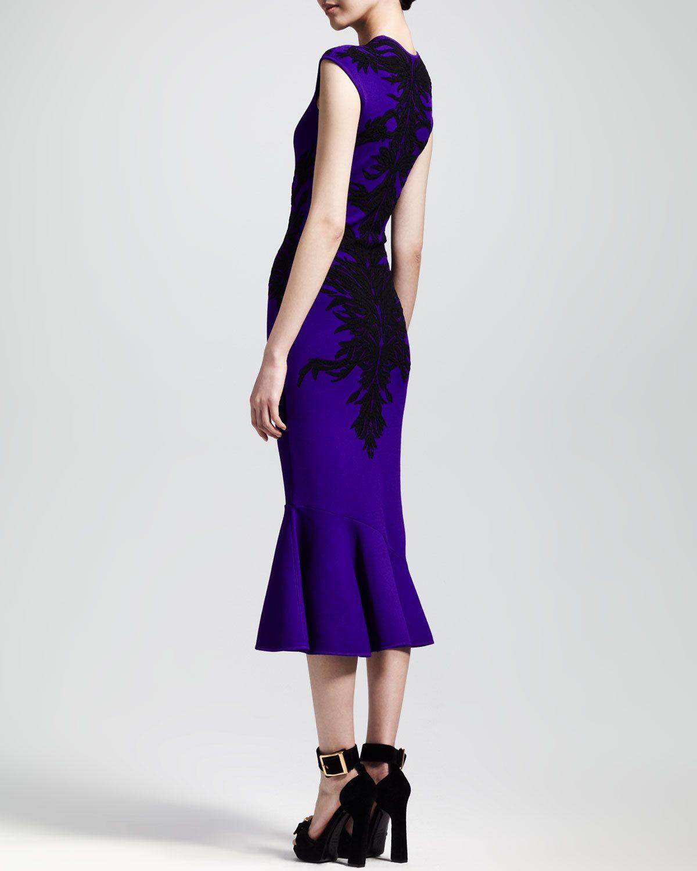 a1499a15f7e83 Alexander McQueen Spine Intarsia Knit Flounce Dress | Clothing ...