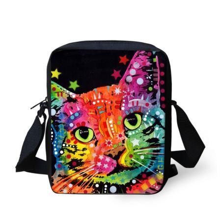 9773170e1ae2 FORUDESIGNS Women Messenger Bags Colorful Pet Dog Printing Shoulder Bag  Girls Cross Body Bag Pug Bulldog