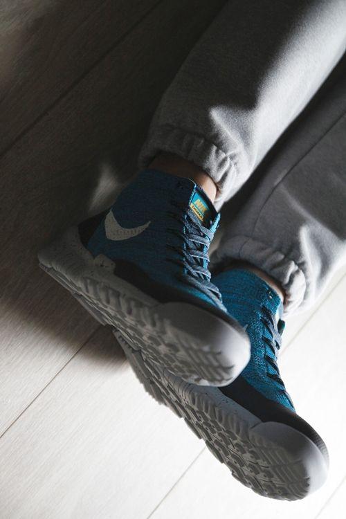 "new arrivals 7ea15 14a43 Nike Flyknit Trainer Chukka FSB ""Squadron Blue"""