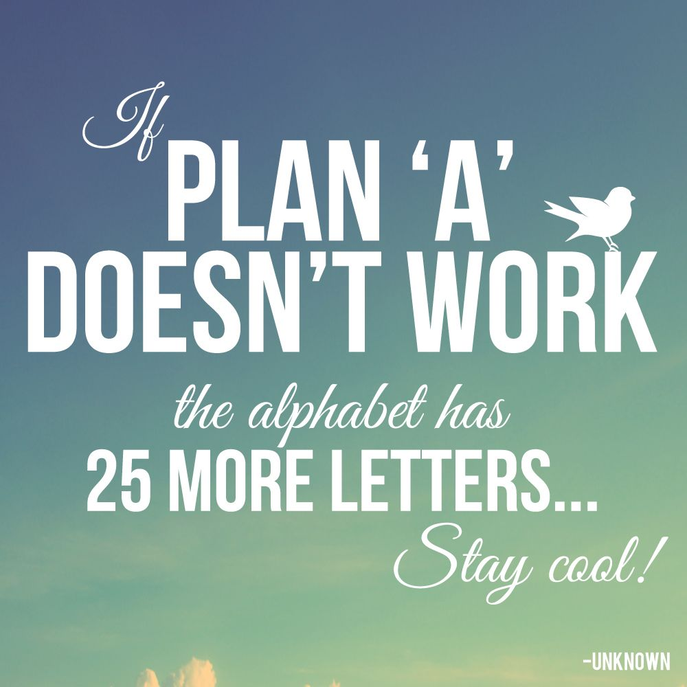 Quote If Plan A Doesn T Work The Alphabet Has 25 More Letters