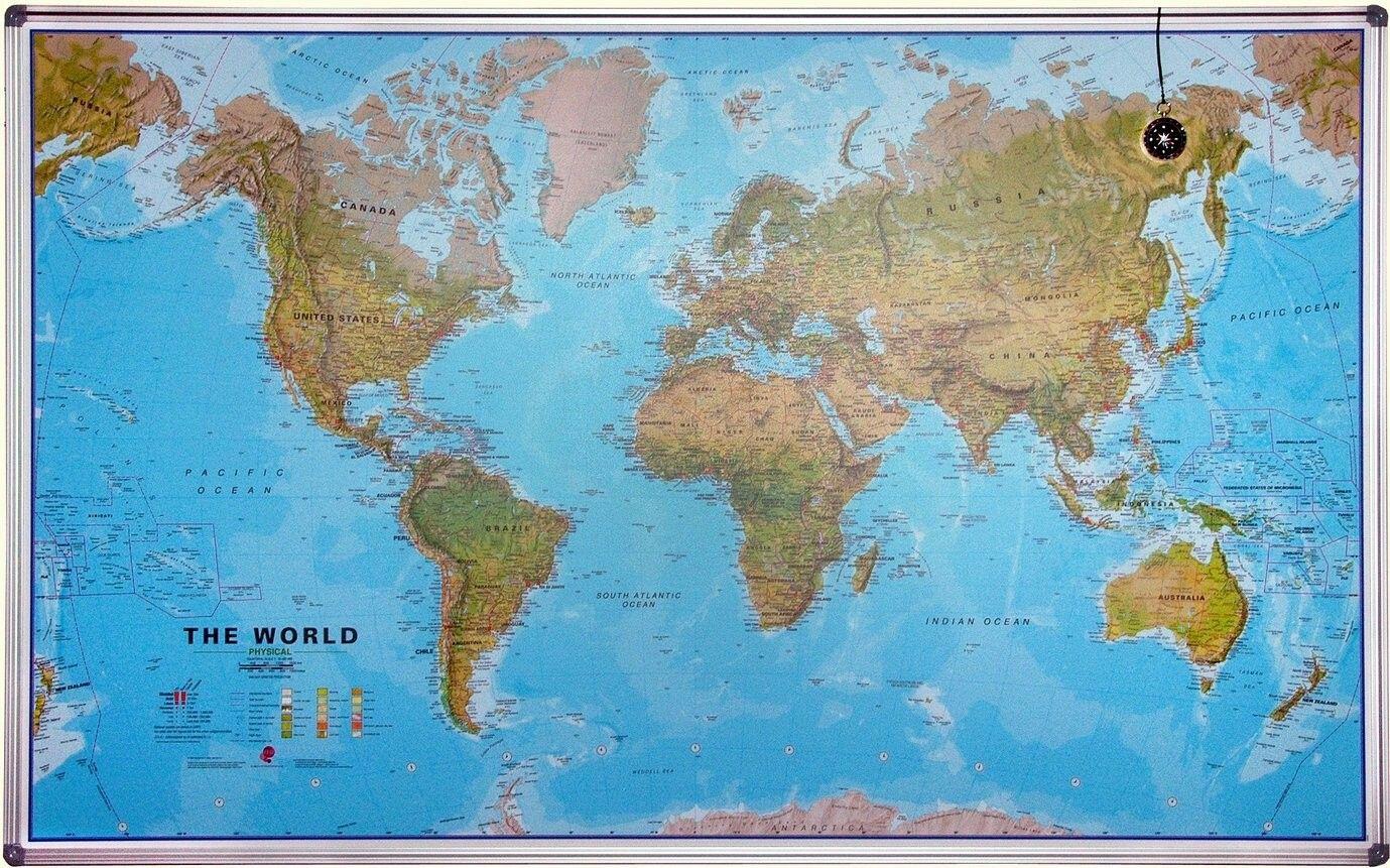 www.Stanley-Livingstone.nl    Wereldkaart Magneetbord