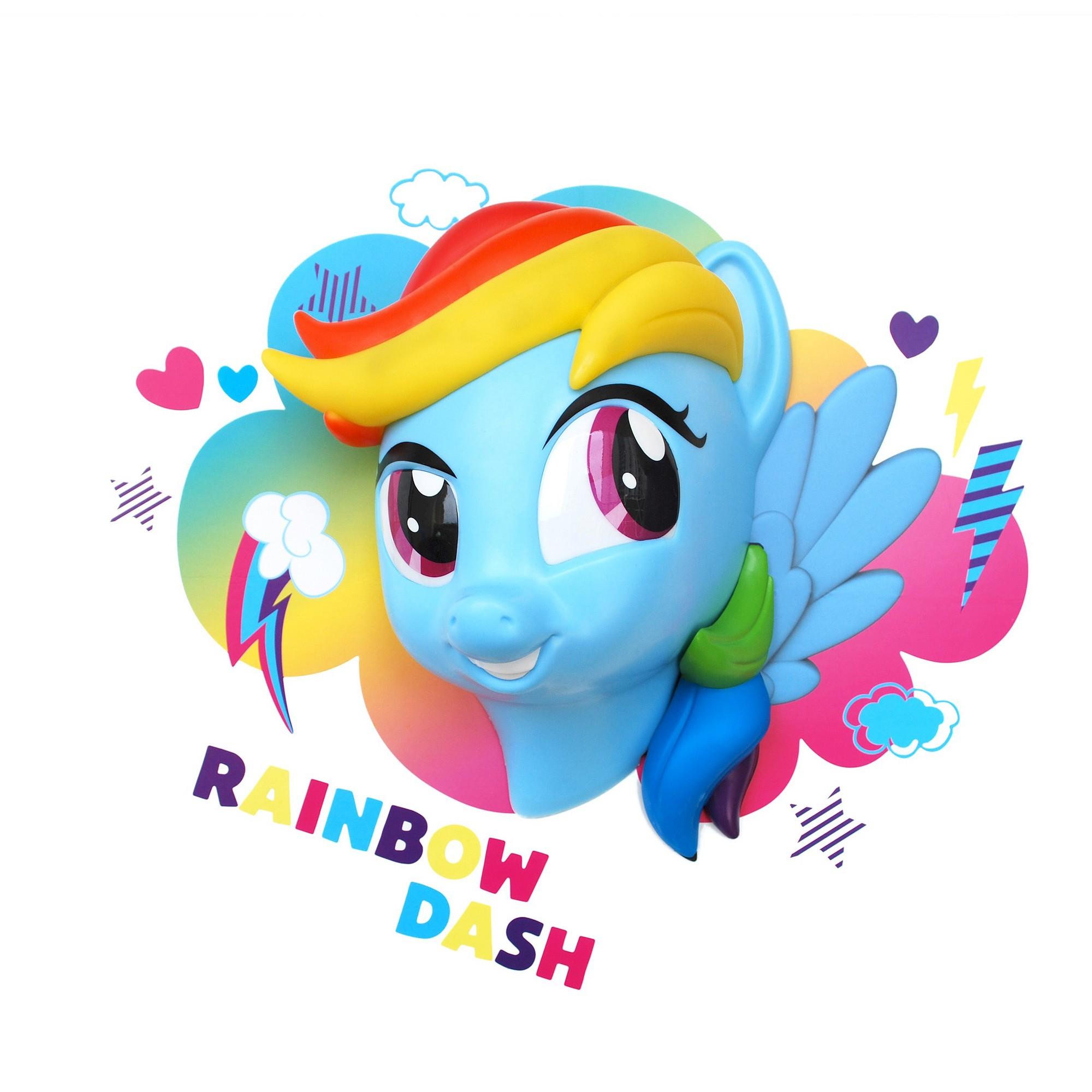 3D Light FX My Little Pony Rainbow Dash Nightlight, Red
