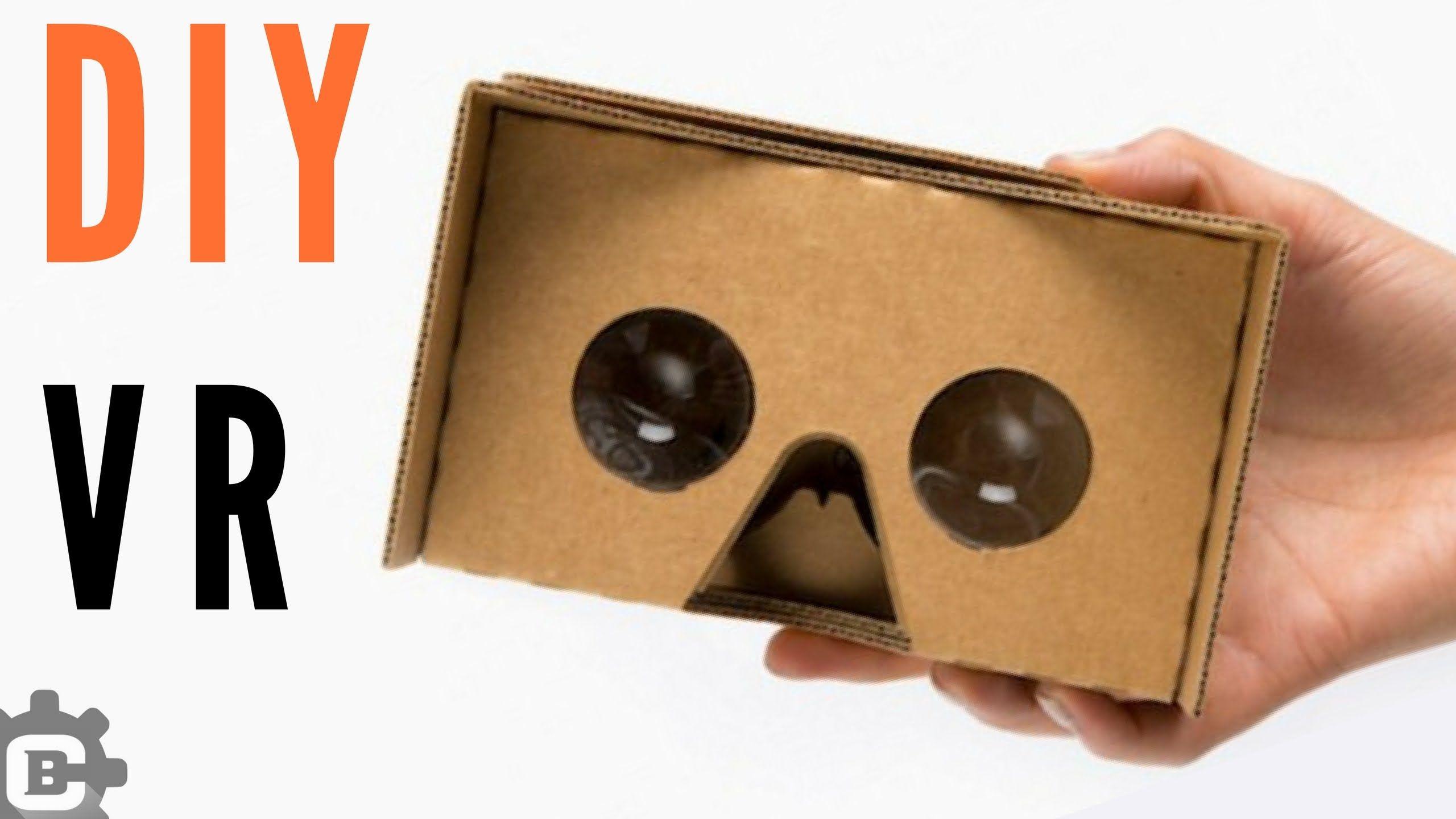 How To Make Vr Cardboard Easy Vr Headset At Home Vr Cardboard
