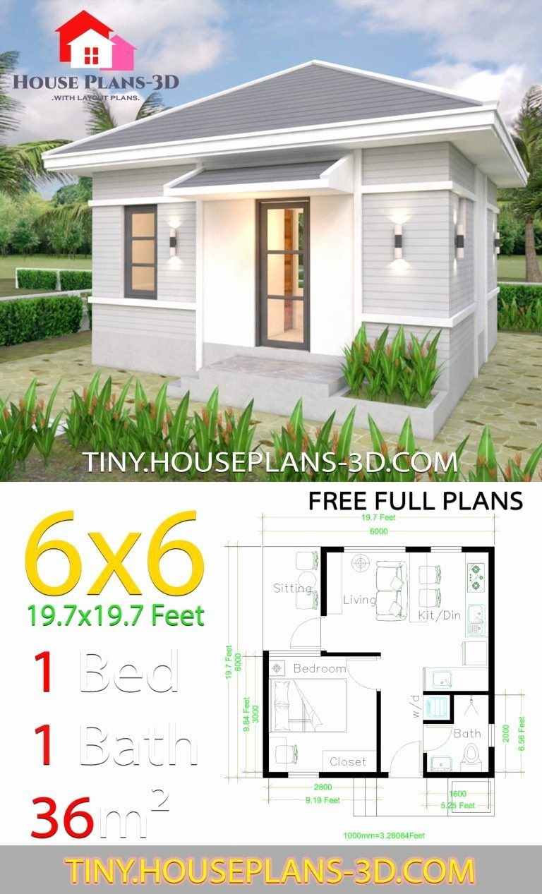 12 Free One Bedroom House Plans Homify Best One Bedroom House Plans House Plans Tiny House Plans