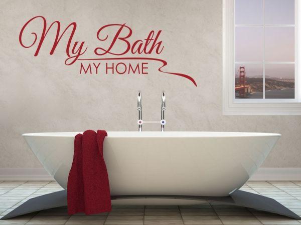 Badezimmer Sprüche ~ Die besten 25 wandtattoo badezimmer ideen auf pinterest