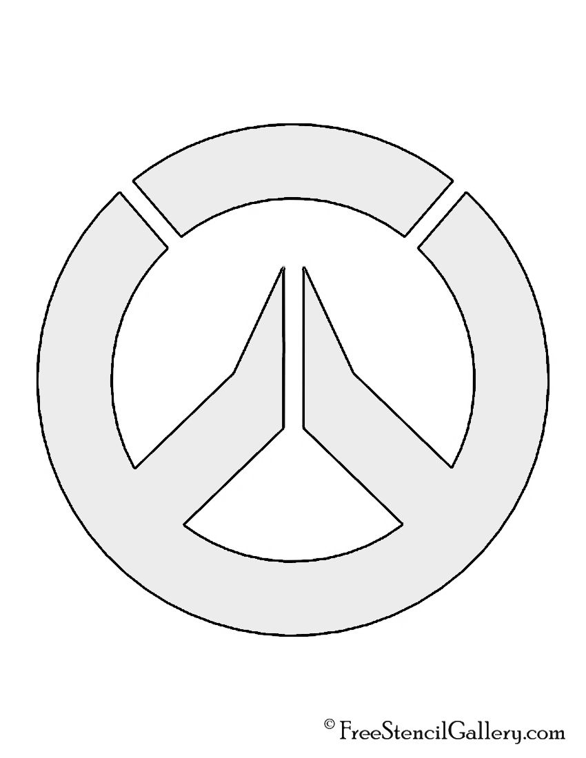 Overwatch symbol stencil cake decoration ideas pinterest overwatch symbol stencil biocorpaavc Images