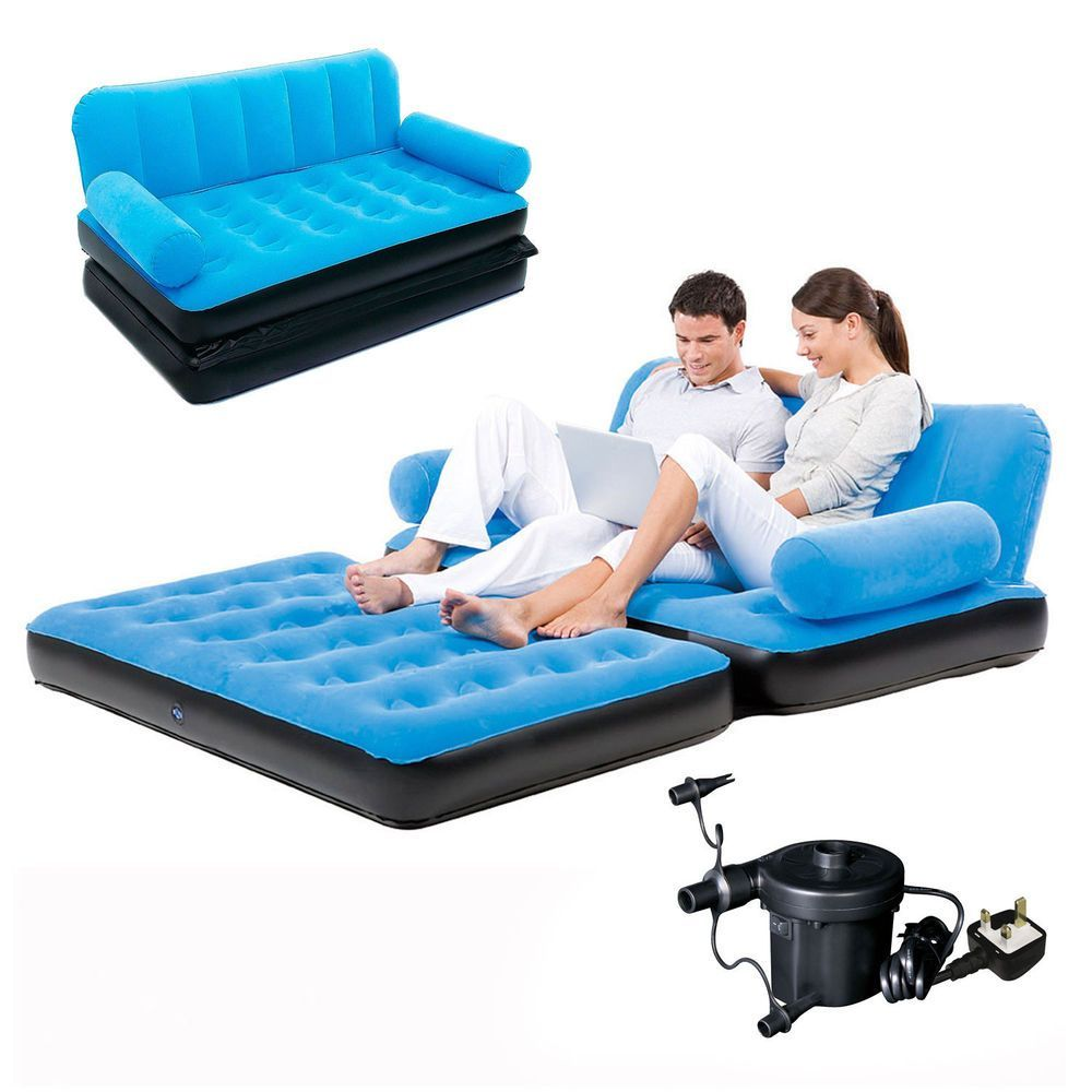 Inflatable Double Sofa Air Bed Couch