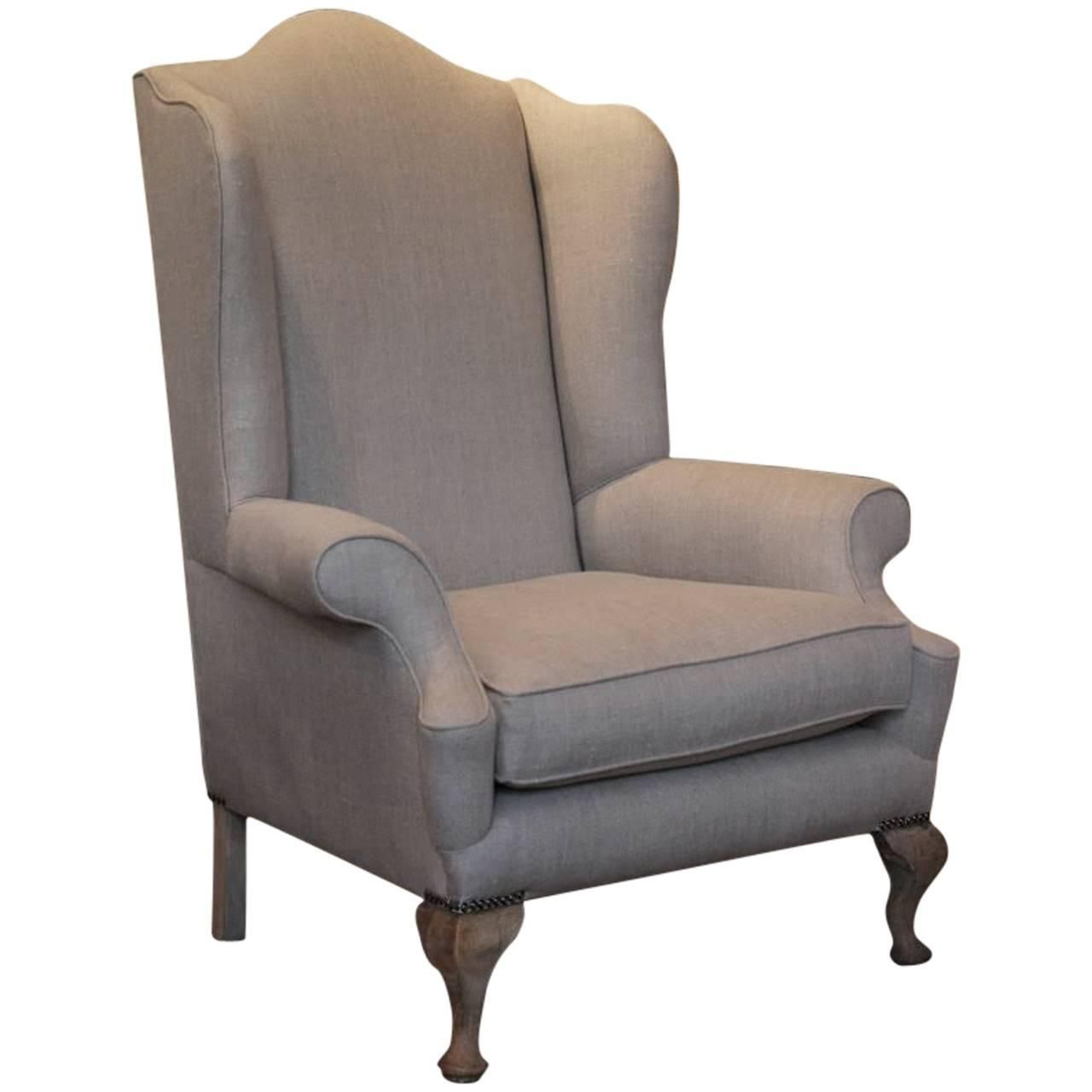 Large Early 20th Cent English Country House Wing Armchair Seating