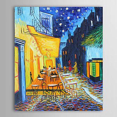 Terraza De Café Por La Noche De Vincent Van Gogh Cuadros