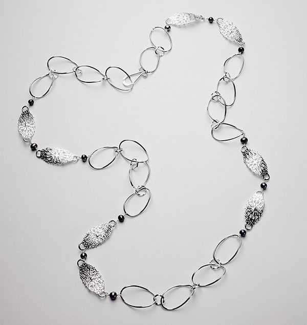 Sterling Silver and Pearl Necklace