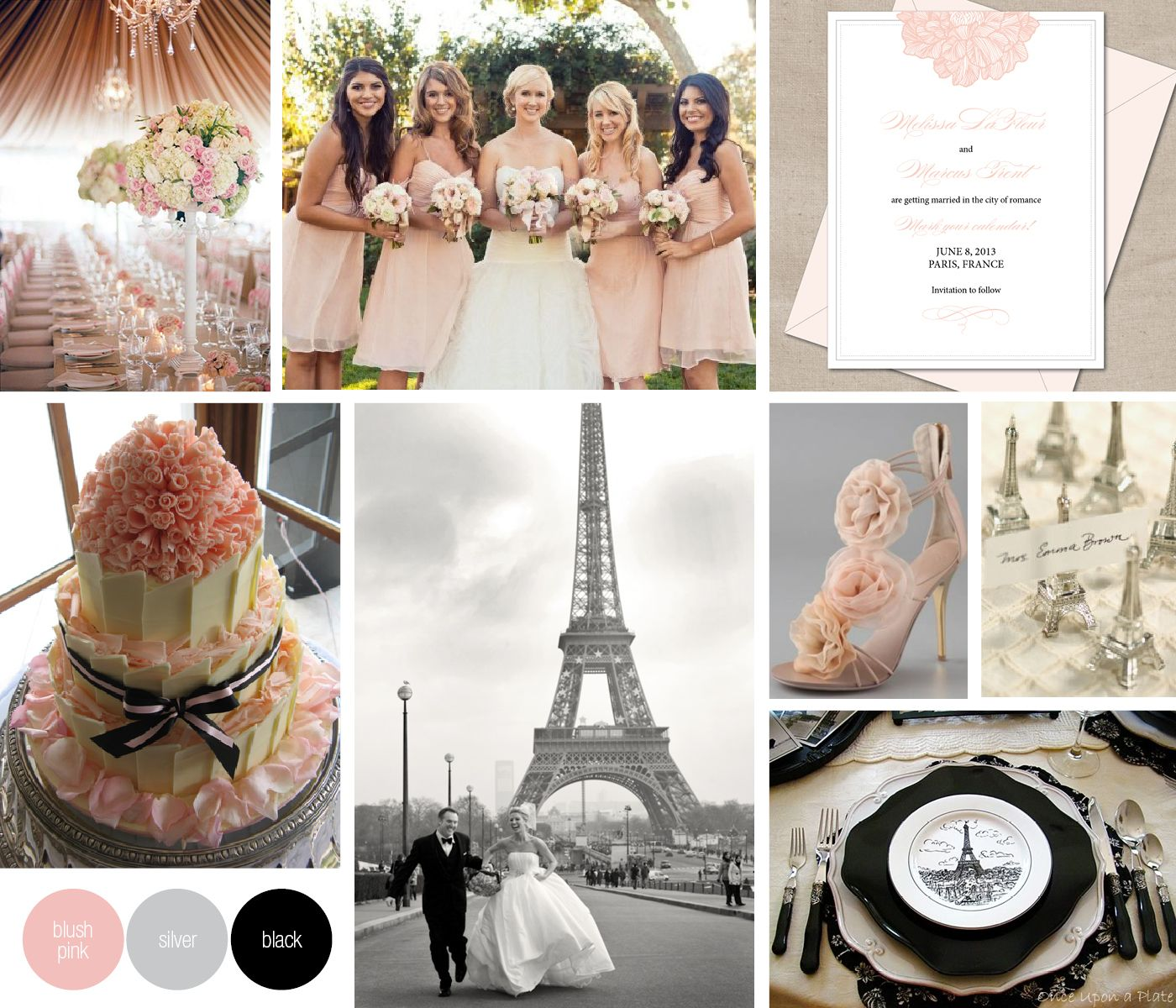 Gorgeous French inspired wedding details. Romantic, elegant and ...