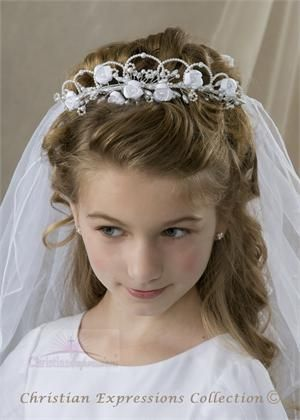 First Communion Wreath Veil- V817
