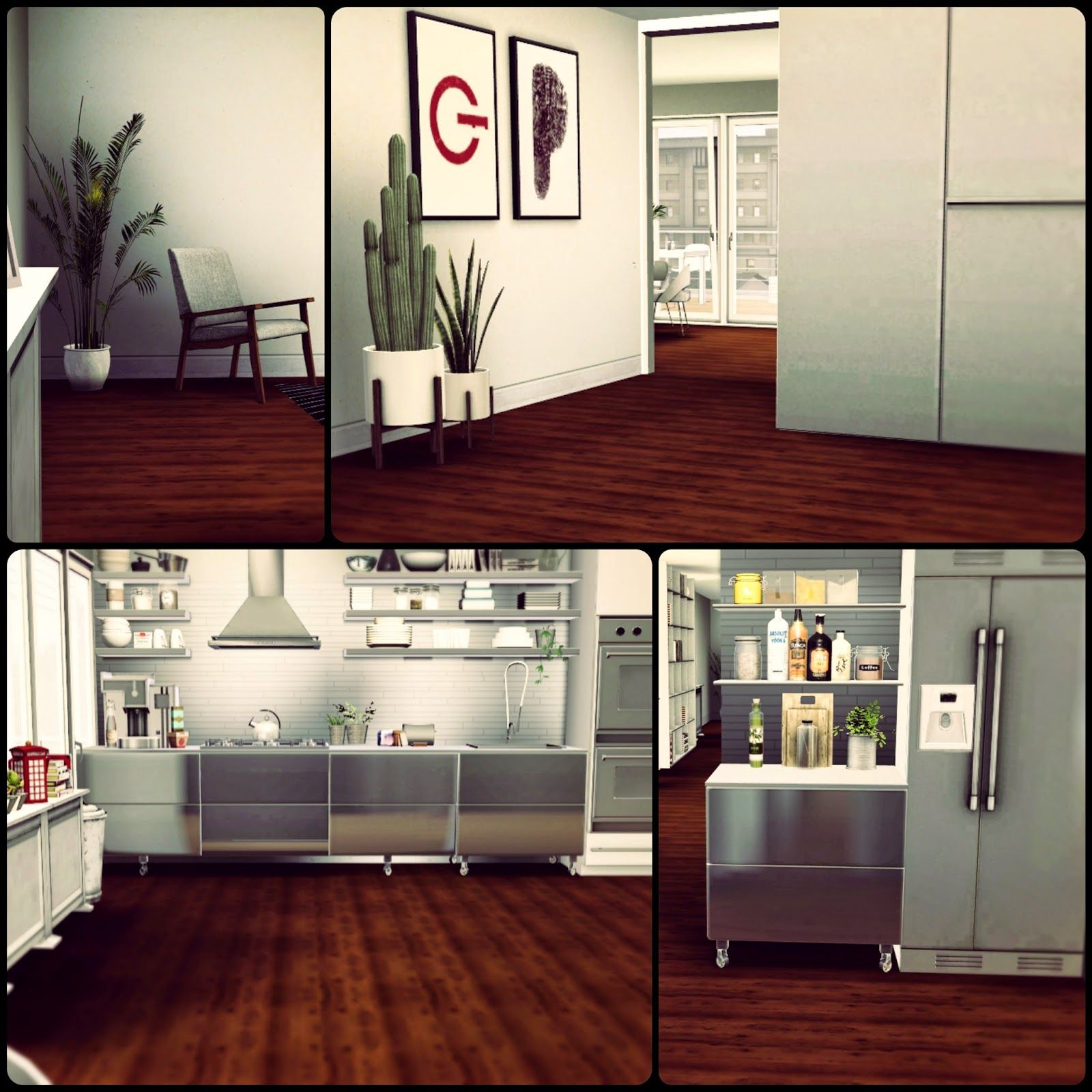 Delightful Simberry Apartment 4D / Sims 3 / Download / Modern