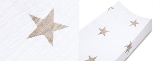 Aden + Anais Change Pad Cover - Super Star Scout Fawn Stars - UrbanBaby