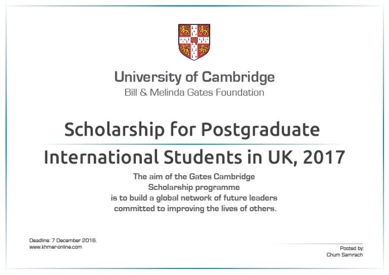 GATES CAMBRIDGE SCHOLARSHIP FOR POSTGRADUATE INTERNATIONAL - mammography resume