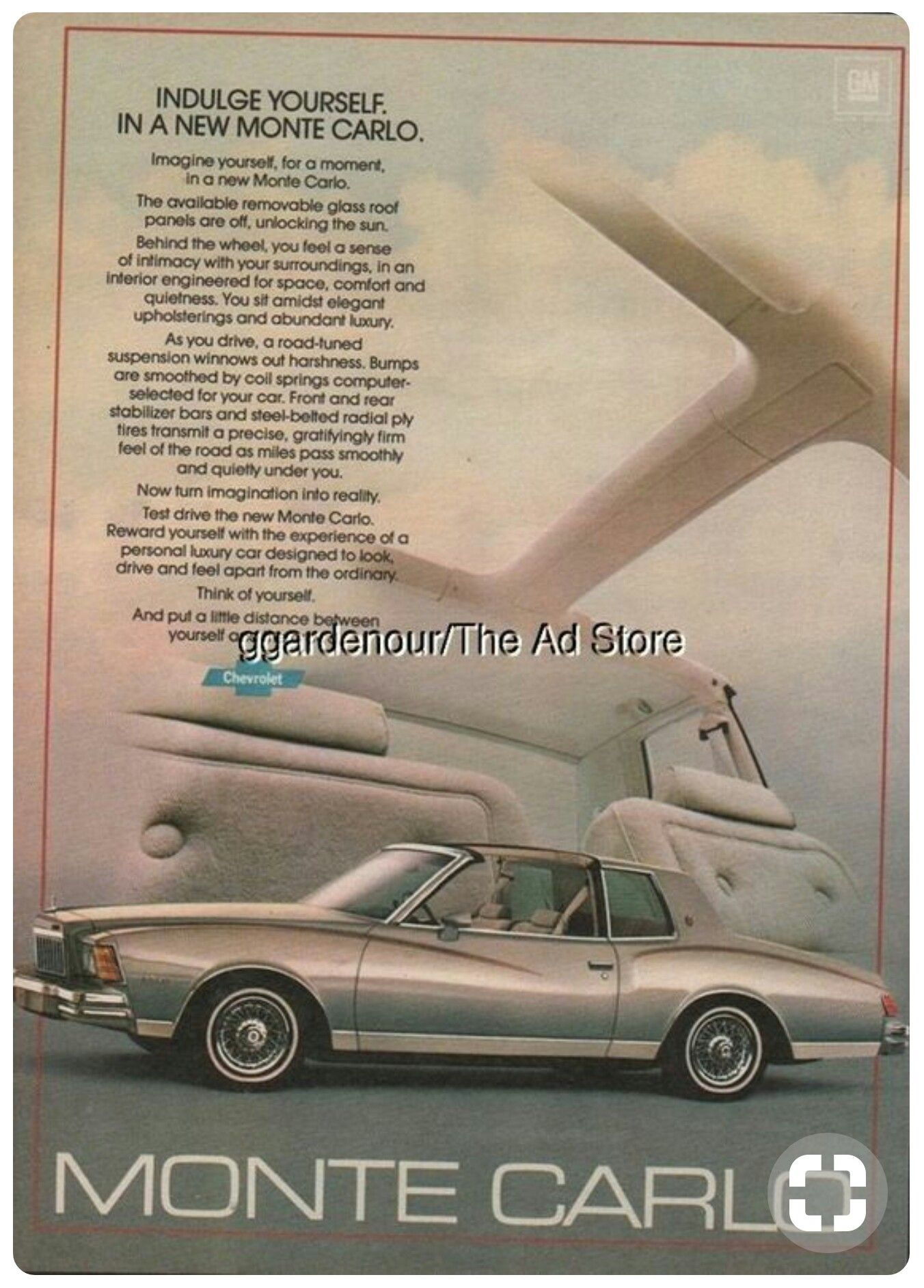 Pin By Deborah Paul On Advertising Ads In 2020 Monte Carlo Car Ads Chevy Monte Carlo