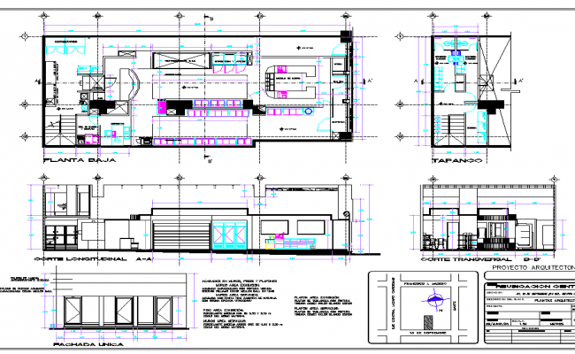 Cake Shop Plan Elevation And Section View With Architecture View Dwg File Shop Plans How To Plan Bakery Design