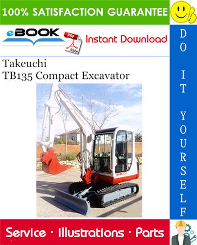 Takeuchi Tb135 Compact Excavator Parts Manual Excavator Excavator Parts Manual