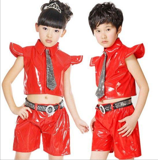 62caade2a31be Chica chico hip hop danza disfraces body 5 ropa para niños establecido  nagle baile latino trajes de baile de jazz E 076 en Latino de Novedad y de  uso ...