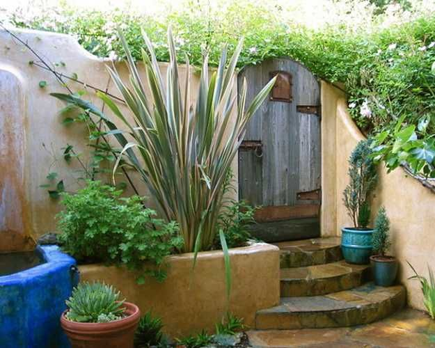 mexican garden design. Tropical Color Decorating Ideas  Mexican Style Garden Designs and Yard Landscaping