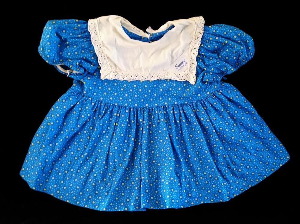 "Original 1960 ~ 32"" Saucy Walker Playpal ~ Tagged BLUE Dress ~ Missing Apron  NR #ClothingAccessories"