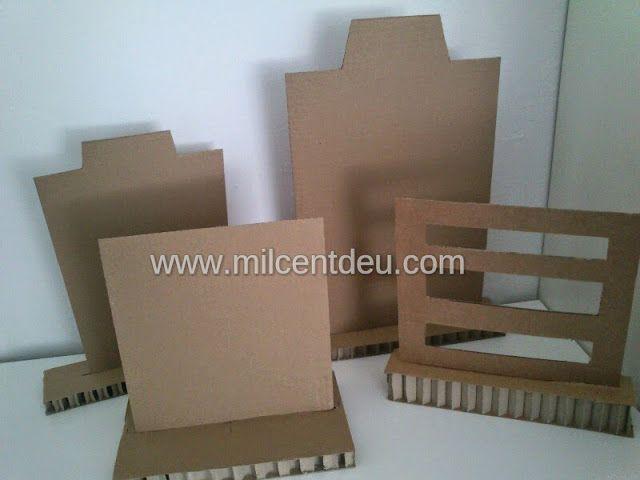 267b87120b0e Expositor de collares con cartón reciclado. Más