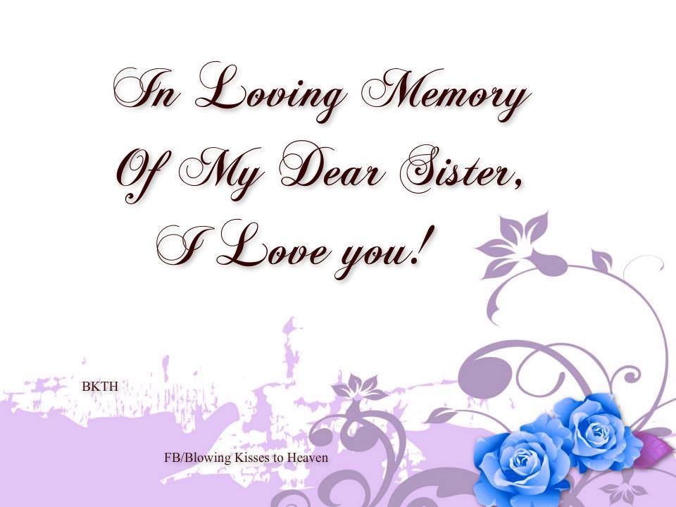 My Sister, My Angel, I Miss You