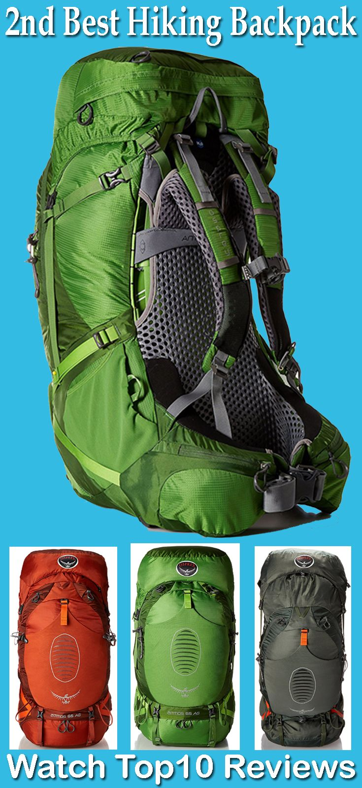 Osprey Men S Atmos 65 Ag Backpacks Anti Gravity Suspension System Is Included In This Version Of Osprey S At Best Hiking Backpacks Hiking Backpack Hiking Gear
