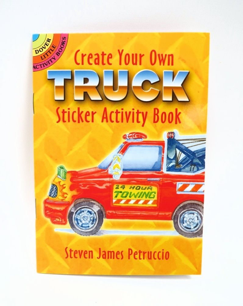 `Create Your own Truck` A Dover Little Sticker Activity Book