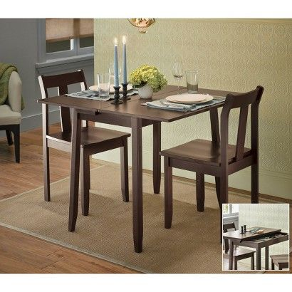 Threshold™ 3-pc. Expandable Dining Set with Storage - Dark Tobacco ...