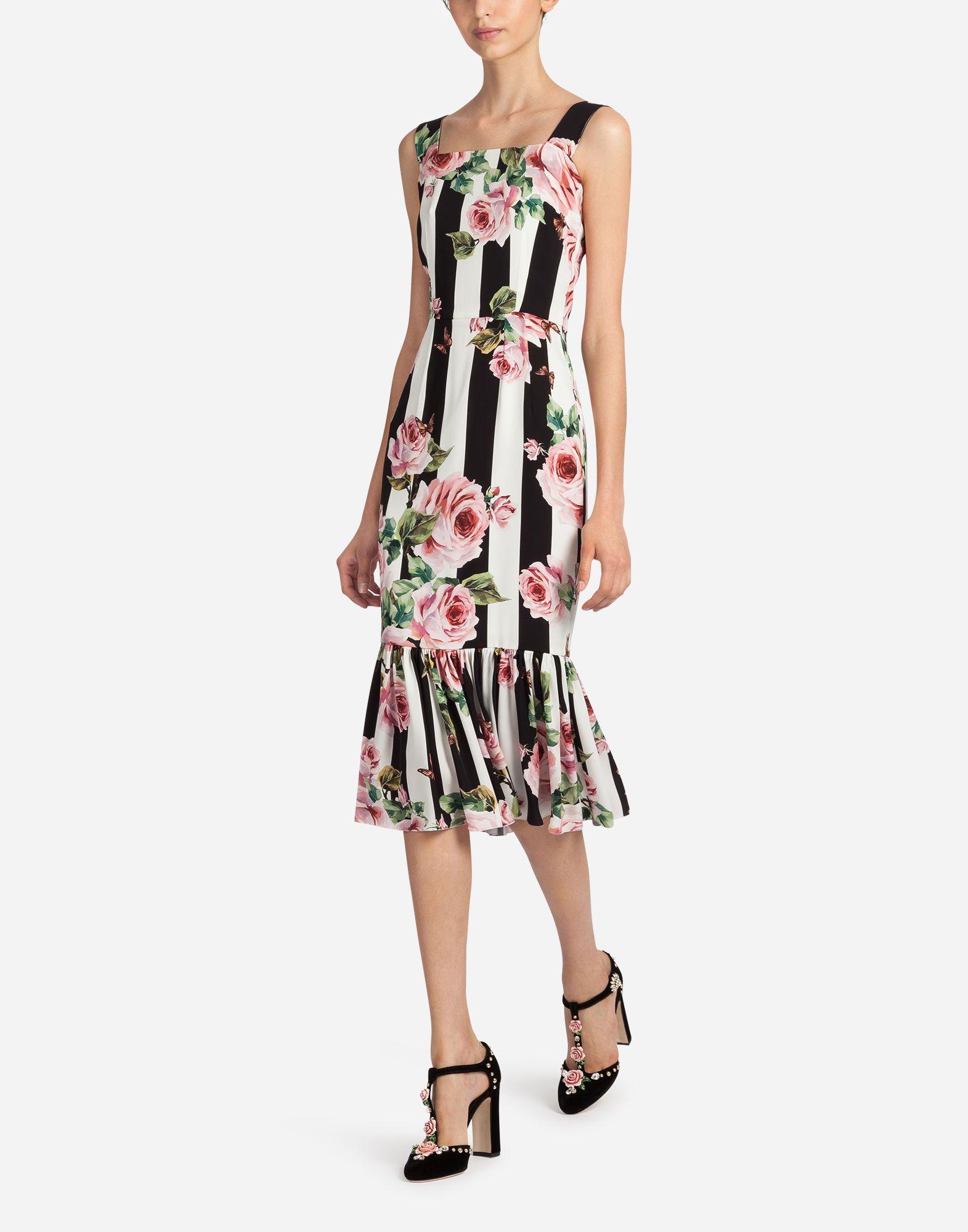 a7f6b888 DOLCE & GABBANA PRINTED SILK DRESS. #dolcegabbana #cloth # | Dolce ...