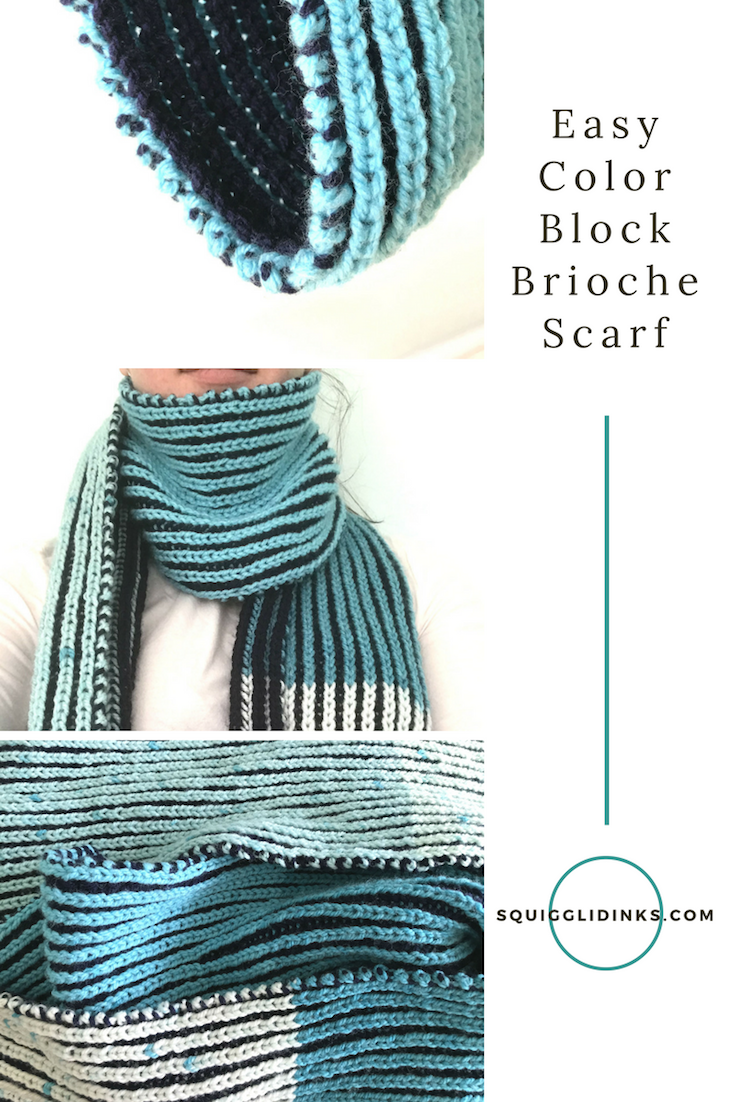 Learn To Knit Two Color Brioche With This Easy Scarf Pattern And