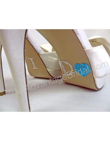 00e14d884c4b51 I Do Shoe Stickers for Bridal Shoes - Aqua Heart