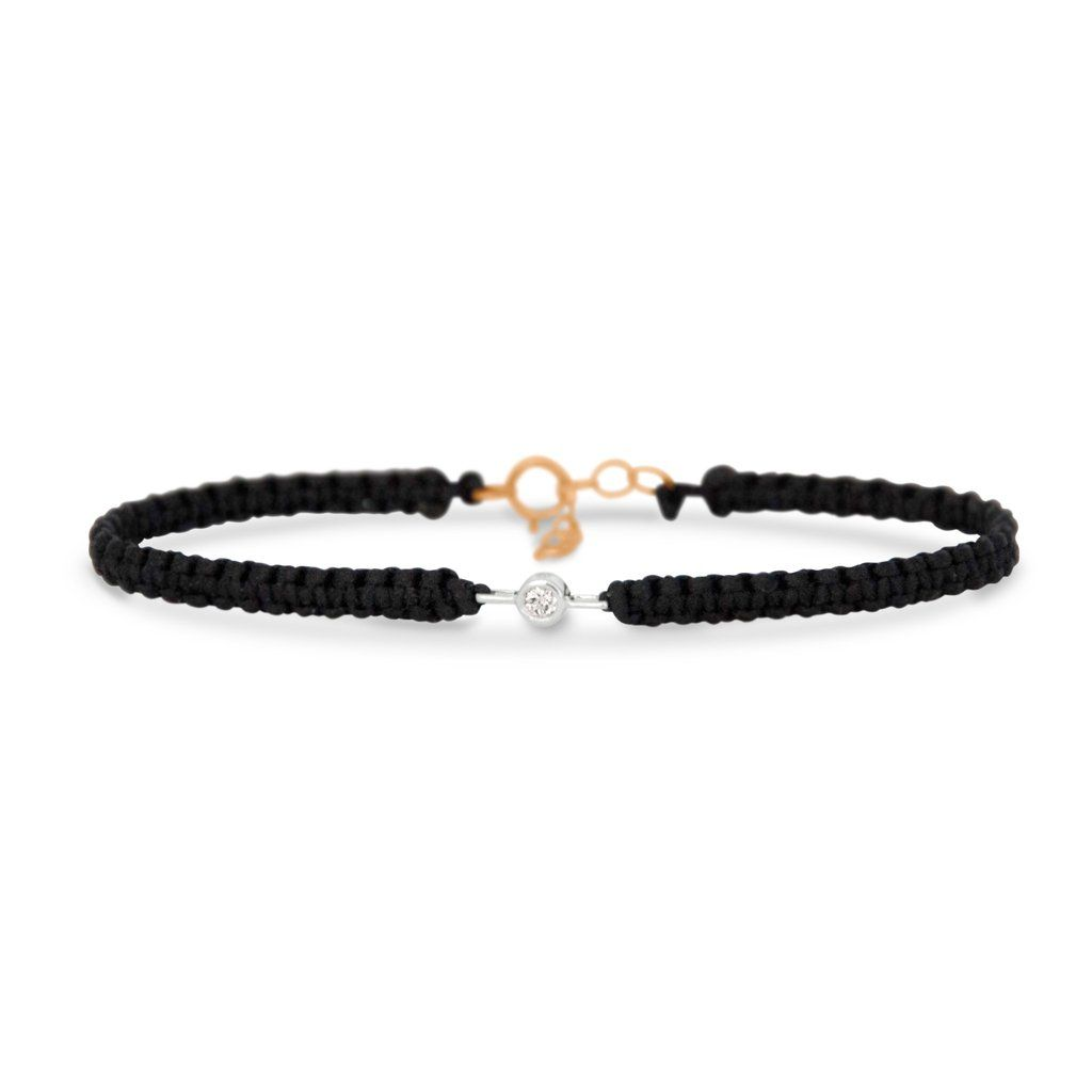 Diamond friendship bracelet in k solid gold solid gold