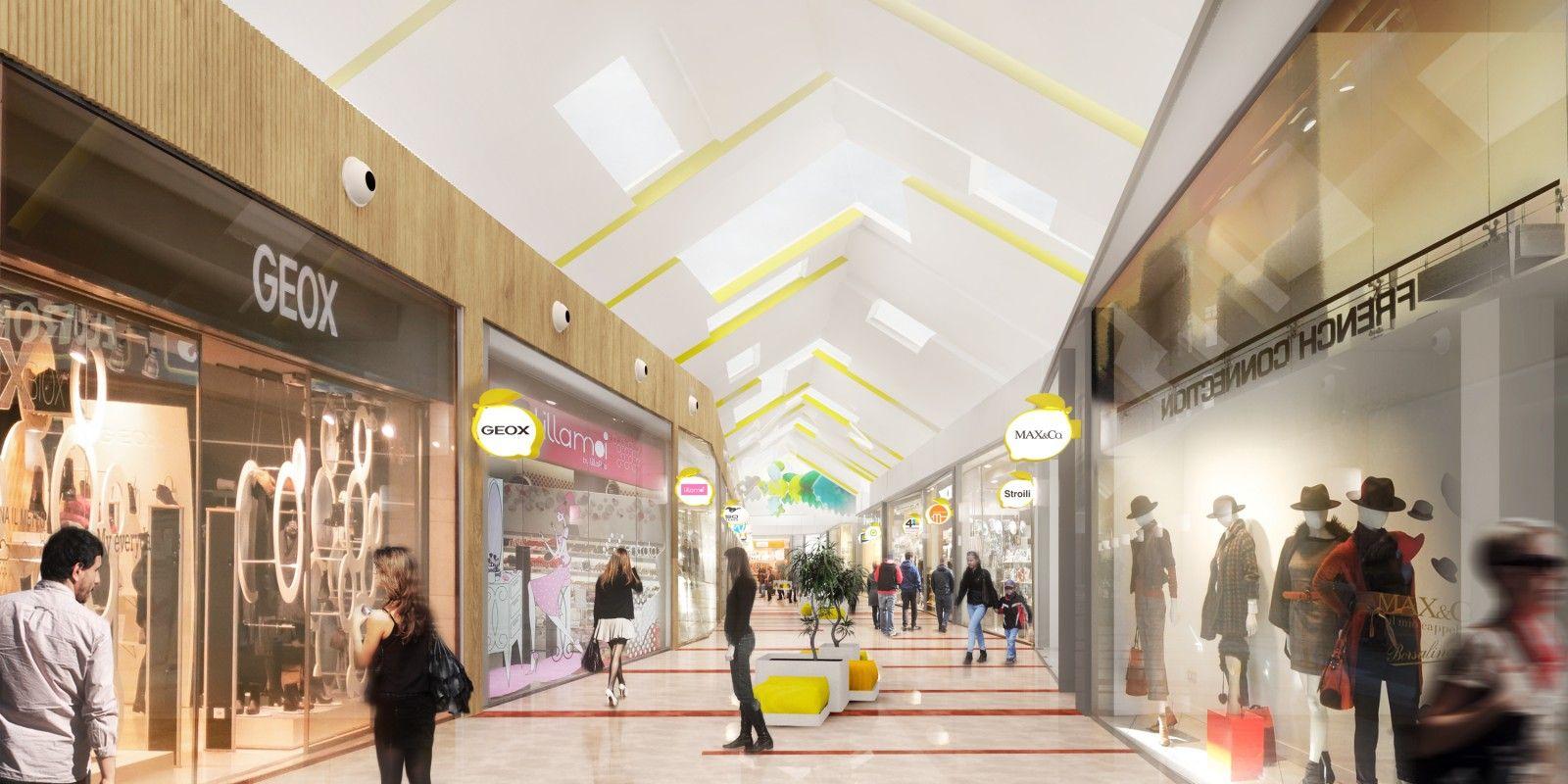 Auchan Bussolengo Shopping mall interior, Shopping mall