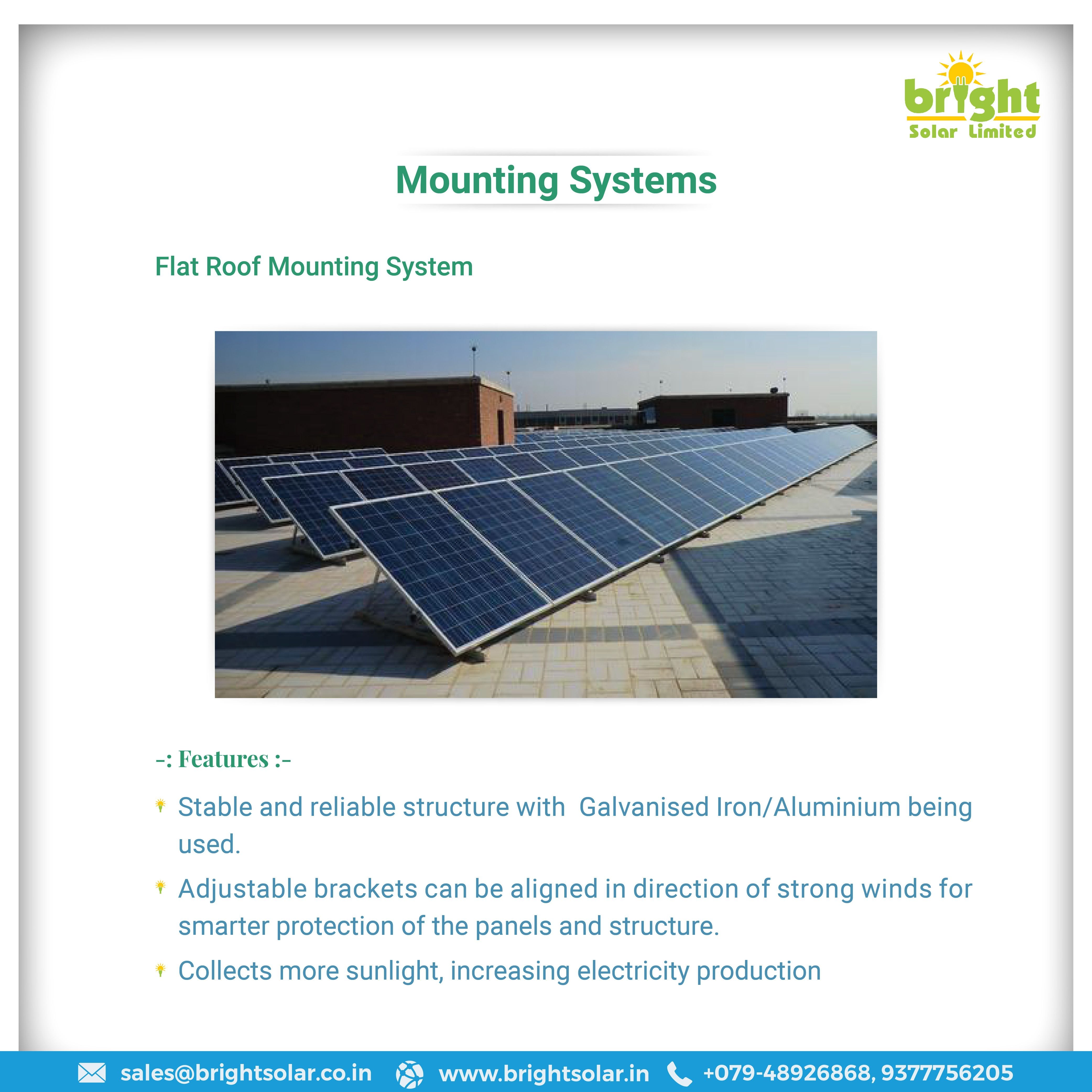 Solar Pv Flat Roof Mounting Systems