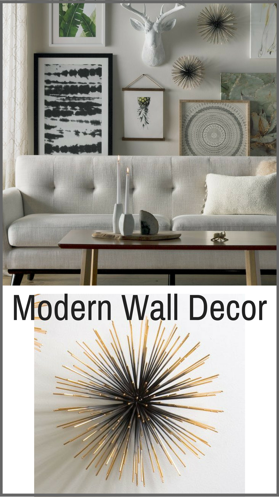 Modern metal wall decor adds texture and interest to your gallery
