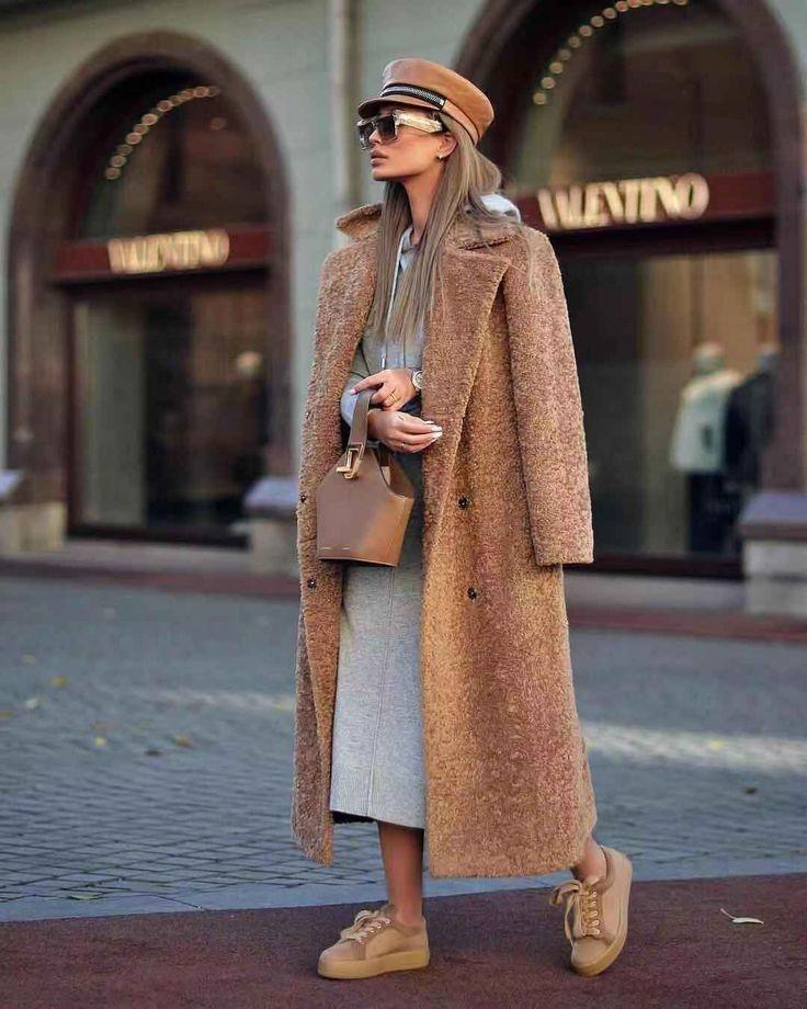 Fashion Elegant Lapel Double-Breasted Long Coat