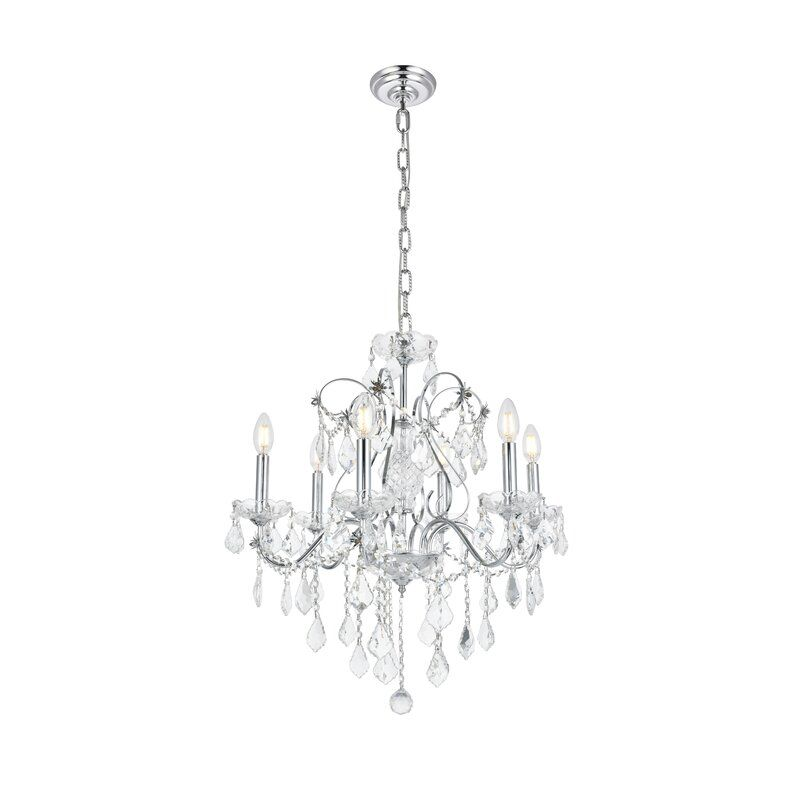Thao 6 Light Candle Style Classic Traditional Chandelier With Crystal Accents In 2021 Traditional Chandelier Candle Styling Candle Style Chandelier