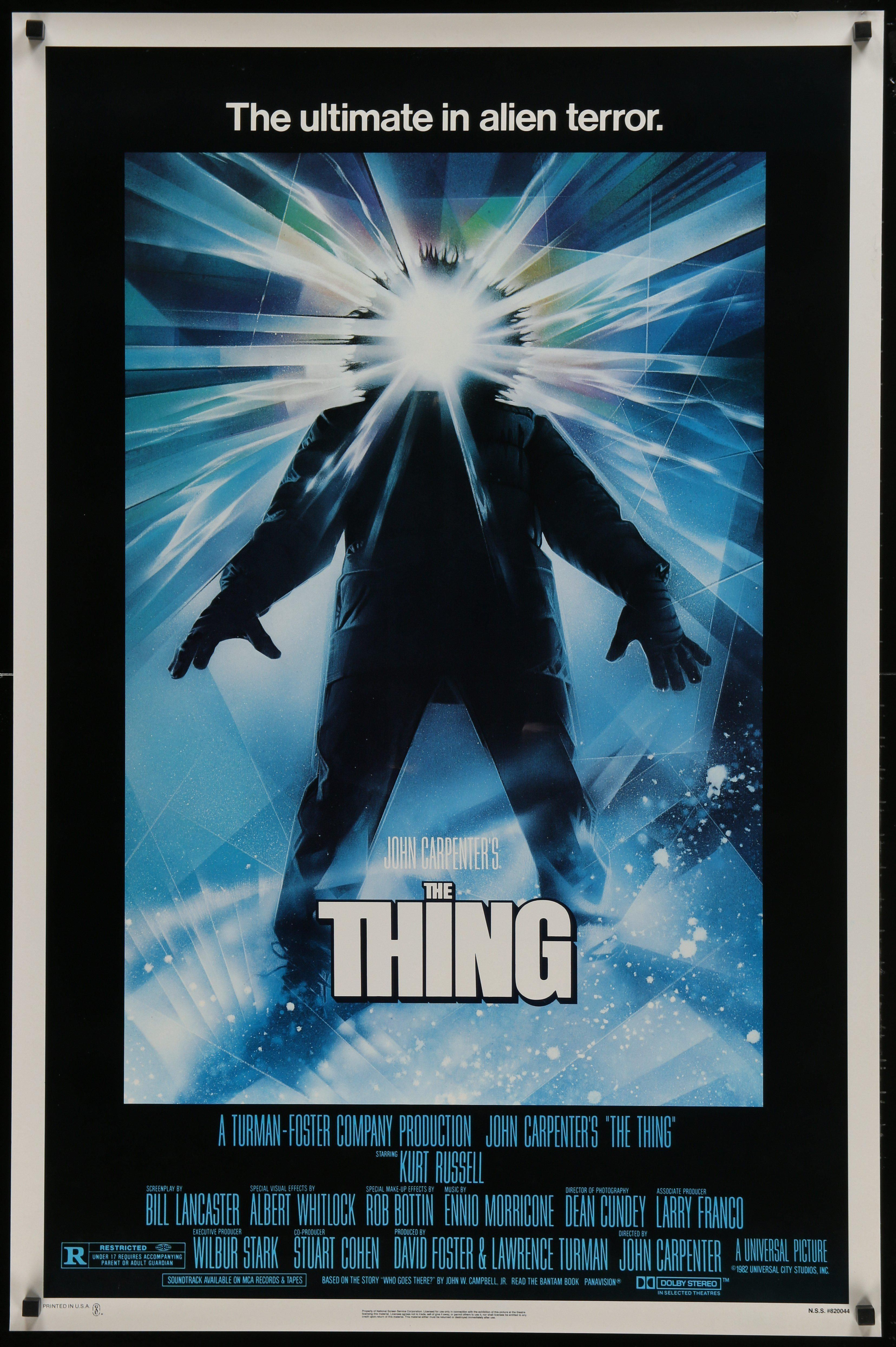 The Thing Iconic Movie Posters Horror Posters The Thing Movie Poster