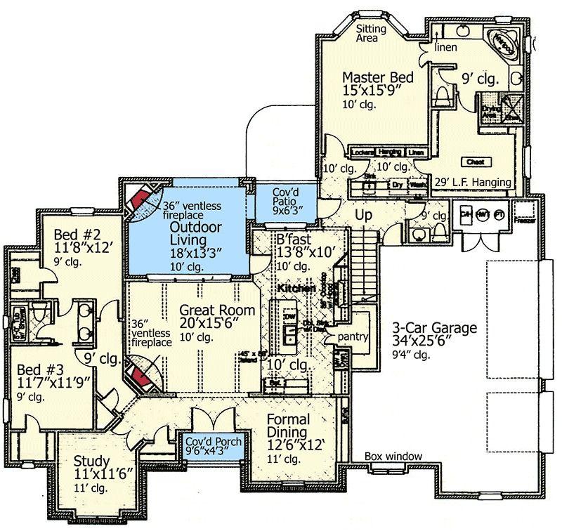 Best Plan 48348Fm Old World Allure House Plans Floor Plans 400 x 300