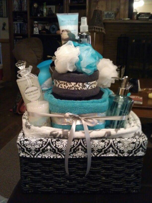 Bath Towel Cake Custom Made By Me Towel Cakes Bath Towels Gift Basket Gift Cake