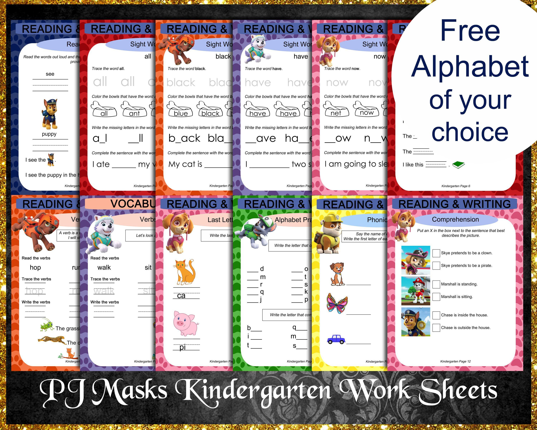 Paw Patrol Kindergarten Worksheets Kindergarten Worksheets Writing Sight Words Phonics [ 2400 x 3000 Pixel ]