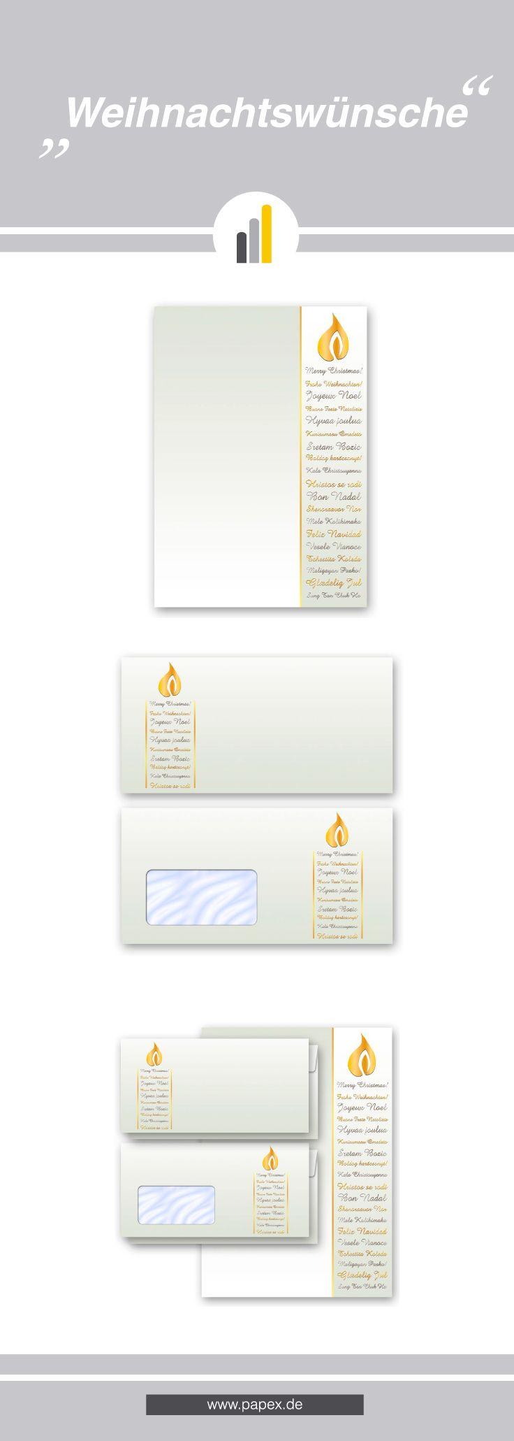 Briefpapier motivpapier weihnachtsw nsche mit passenden for Wohnung dekorieren winter