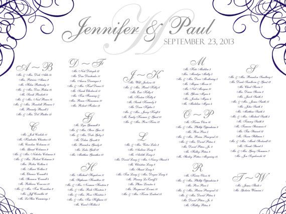 Wedding Seating ChartPDF FileSwirl Wedding seating, Wedding - wedding charts