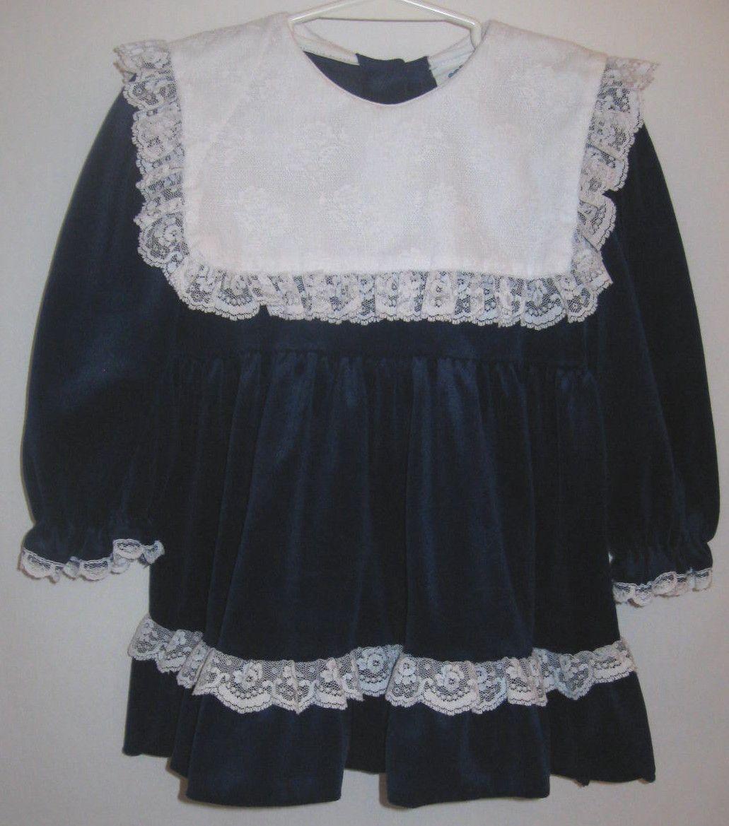 Blue christmas dress 4t - Girl 4t Broadway Kids Royal Blue Christmas Thanksgiving Velvet Lace Dress