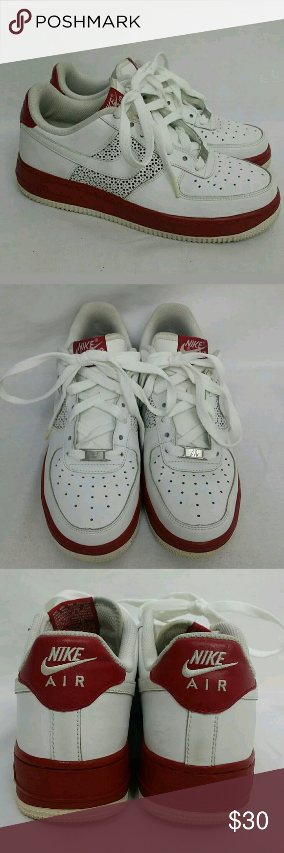 Red Size Air 6 Nike White Force 1 Youth Sneakers 5 c5jARq34SL