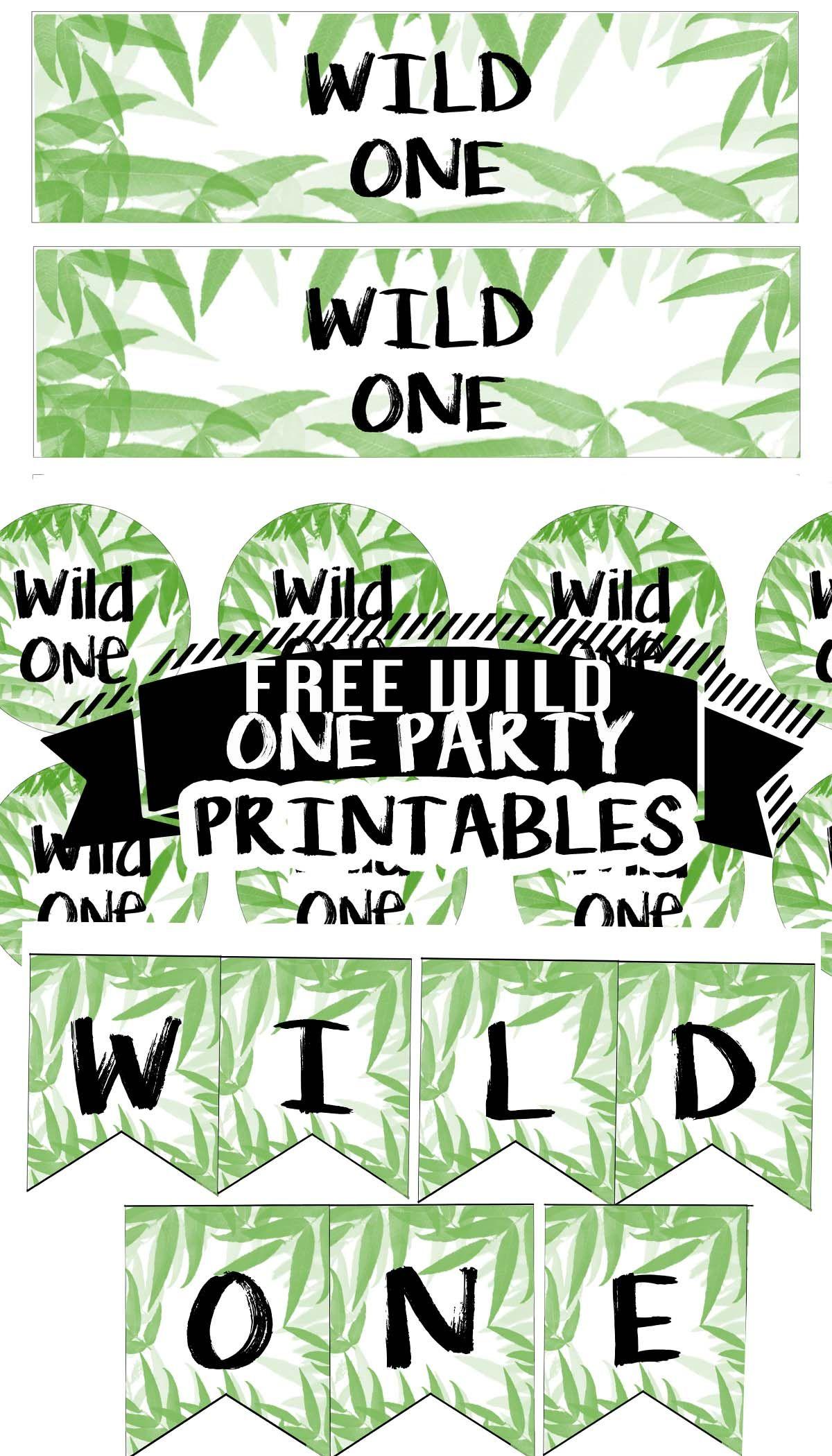 FREE Wild One Birthday Party Printable Files Cupcake