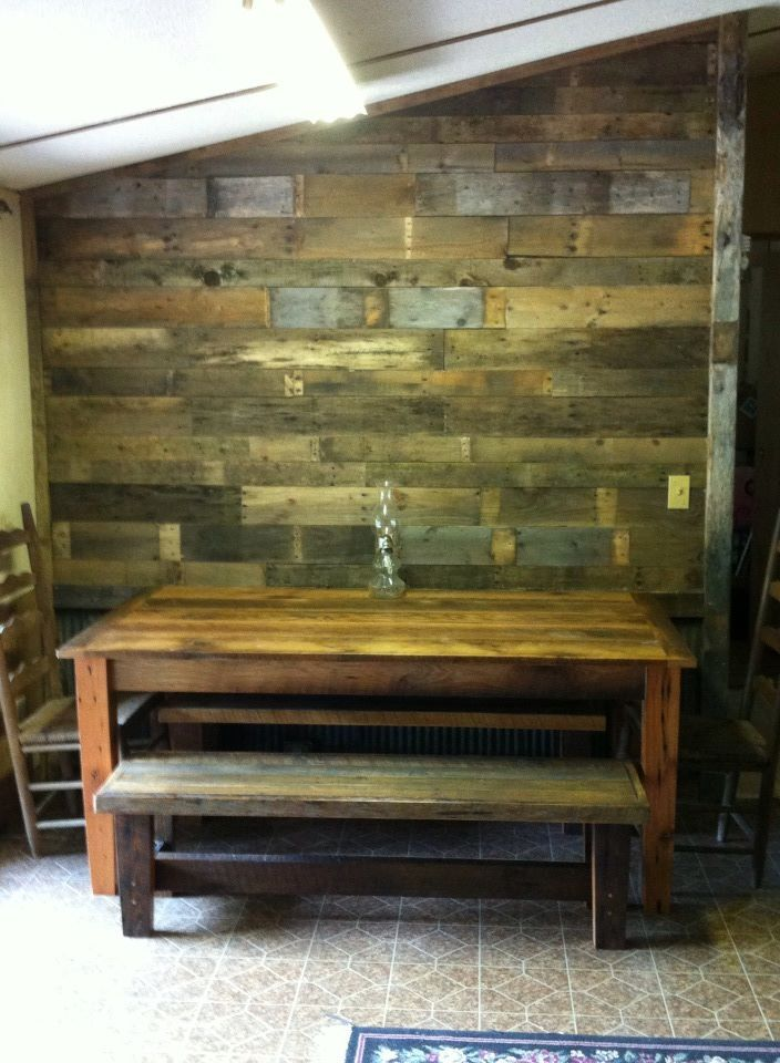 Get free pallets from businesses to built pretty rustic ...
